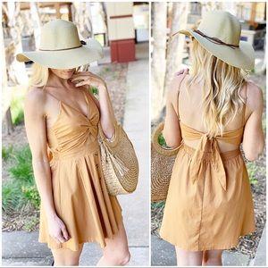Infinity Raine Dresses - Camel cut out dress